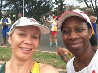 Bronwyn with her colleague Busi from Hillcrest Villagers who also completed the race