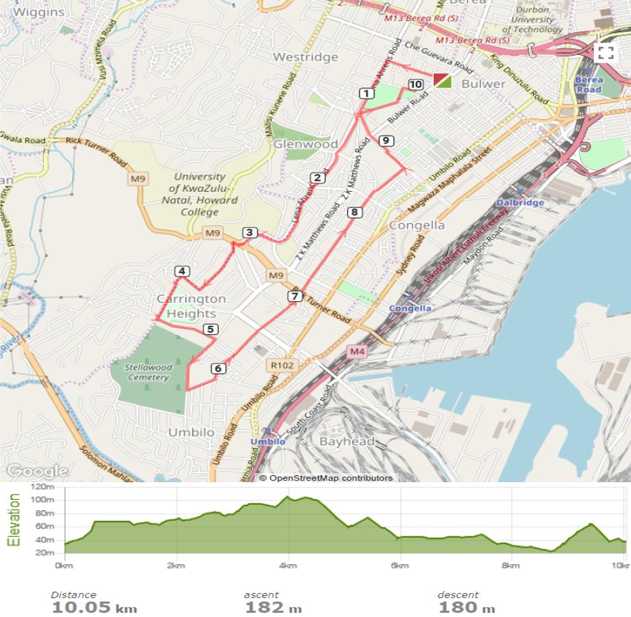 10km Route