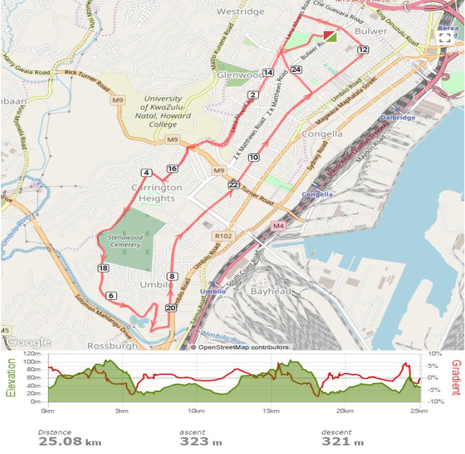 25km Route